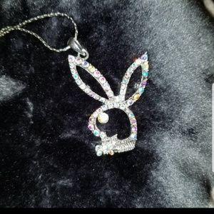 Playboy Bunny  Necklace  Swarovski crystal
